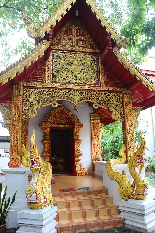 Golden temple in Chiang Mai