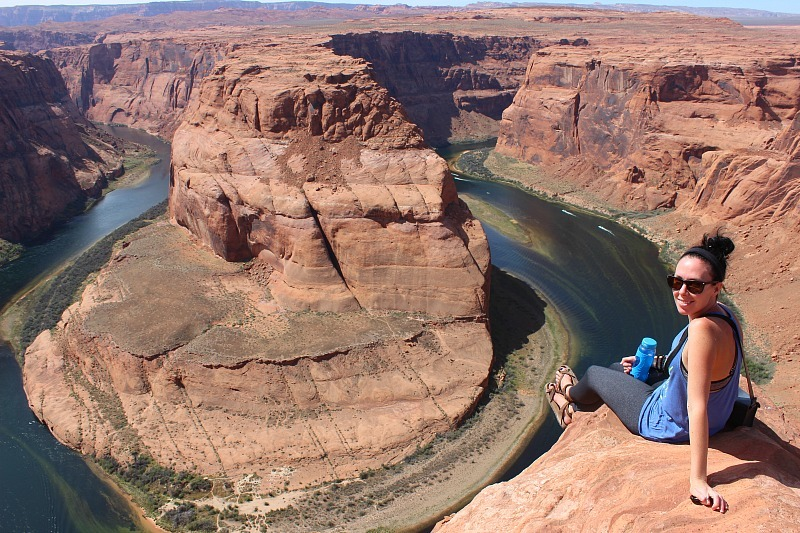 Visiting Horseshoe Bend during month 10 of digital nomad life
