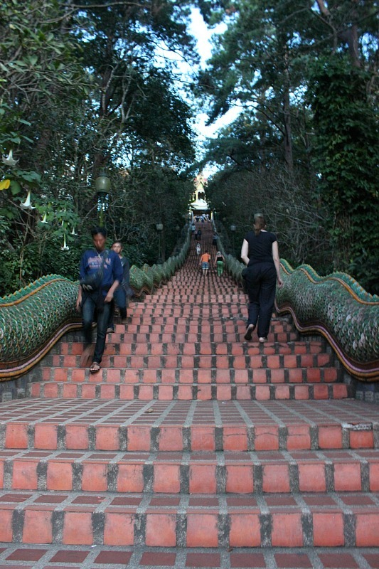 Stairs to temple