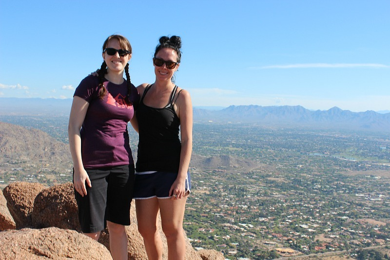 Hiking to the top of Camelback Mountain in Phoenix during month 10 of digital nomad life