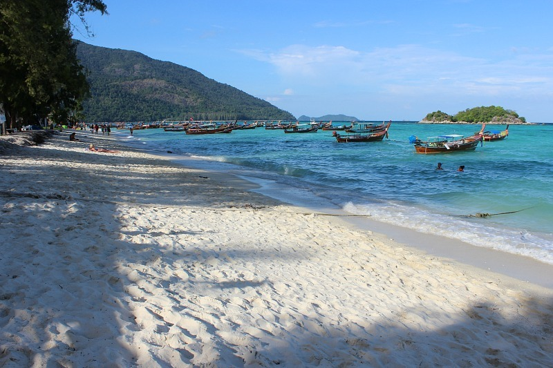 Beautiful Sunrise beach on Koh Lipe
