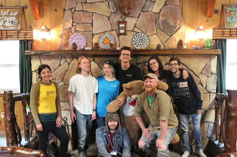 Big Bear Hostel family during month 11 of digital nomad life