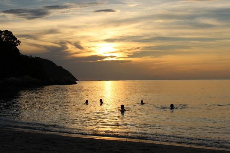 Sunset beach on Koh Lipe