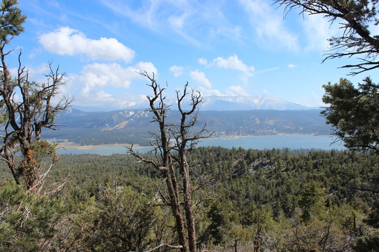 View from Cougar Crest trail in Big Bear Lake during month 11 of digital nomad life