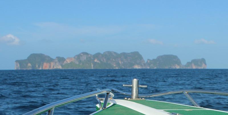 Approaching Koh Phi Phi on a Koh Phi Phi Island Tour