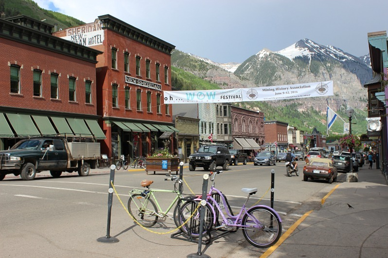Downtown Telluride Colorado during month 12 of digital nomad life