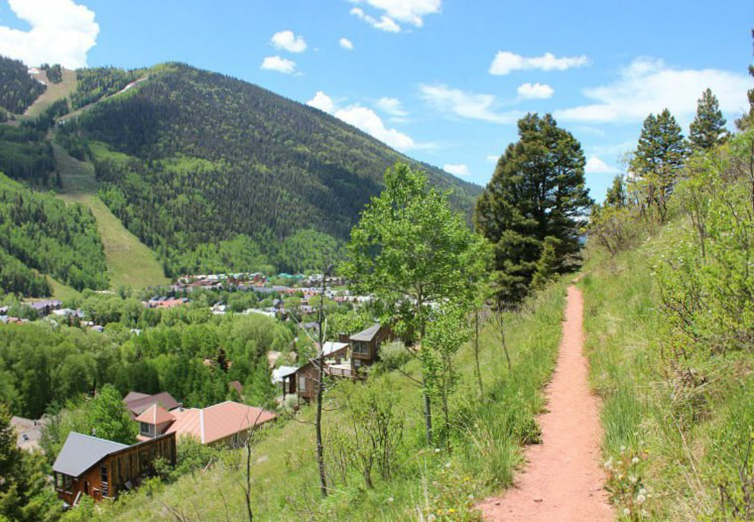 Hiking above Telluride, one of the best Colorado Mountain Towns