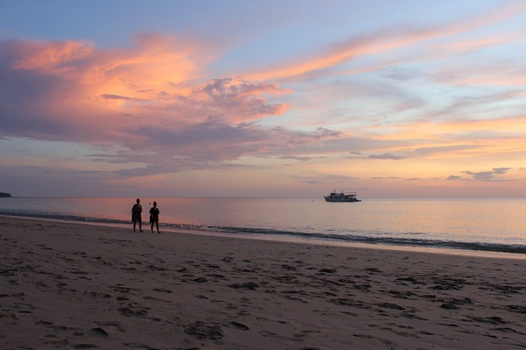 Long Beach sunset on Koh Lanta