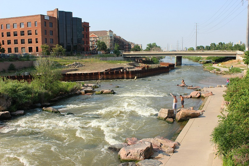 Platte river in Denver