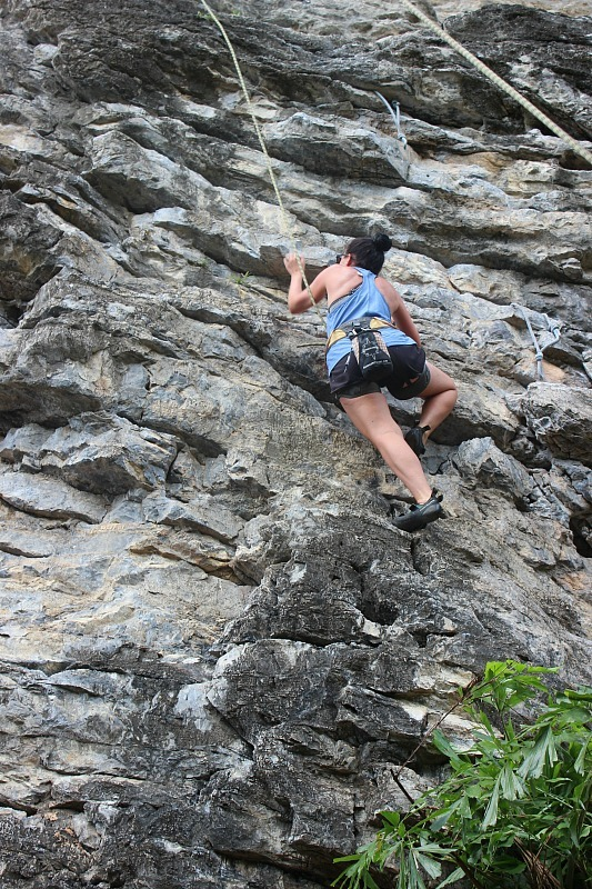 Railay Beach rockclimbing