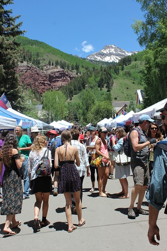 Attending the Telluride Farmers Market during month 12 of digital nomad life