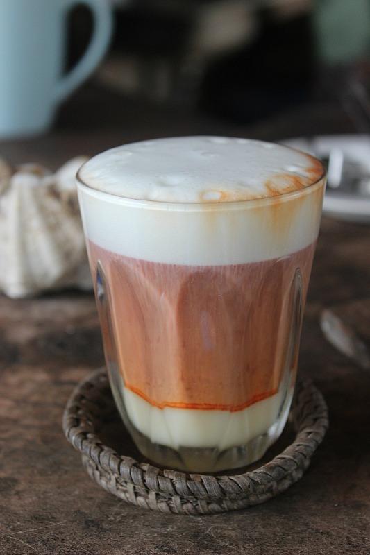 Thai tea latte at Railay Beach