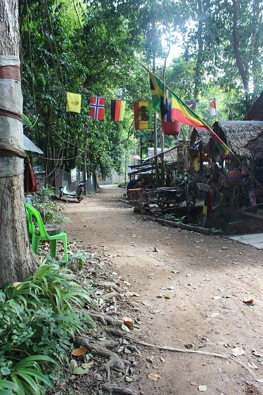 Tonsai, a quiet beach town around the bay from Railay Beach in Thailand