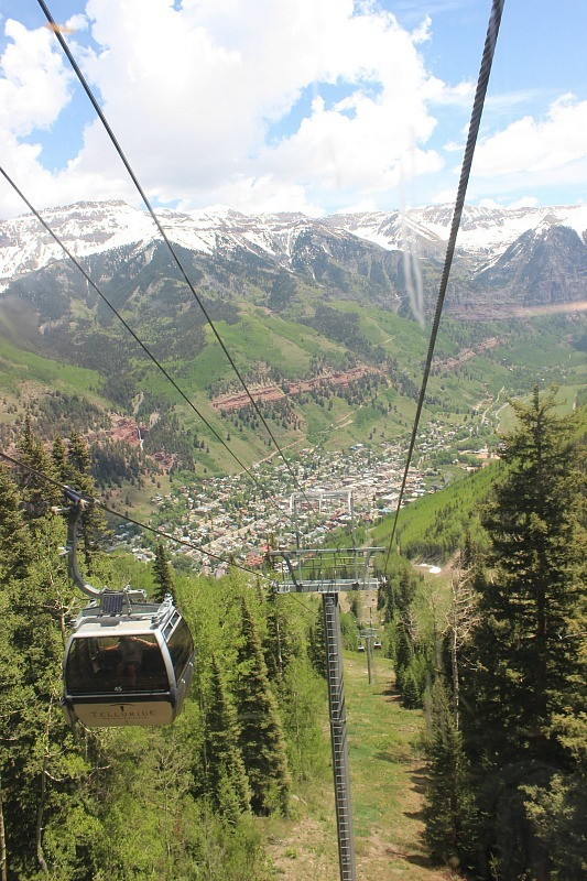 View over downtown Telluride Colorado during month 12 of digital nomad life