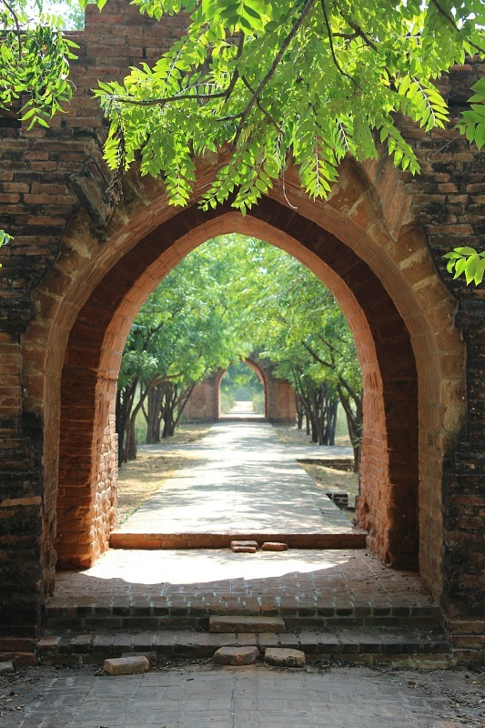 Archway in Sinbyushin Monastic Complex in Bagan