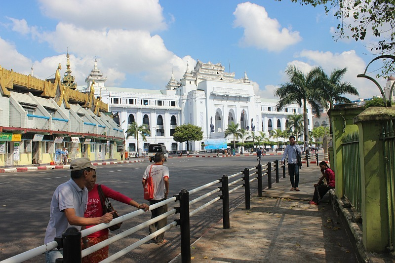 Self-guided walking tour of downtown during our two days in Yangon