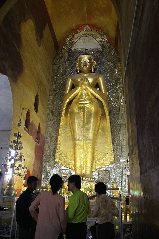Giant Buddha in Ananda - one of the Bagan pagodas