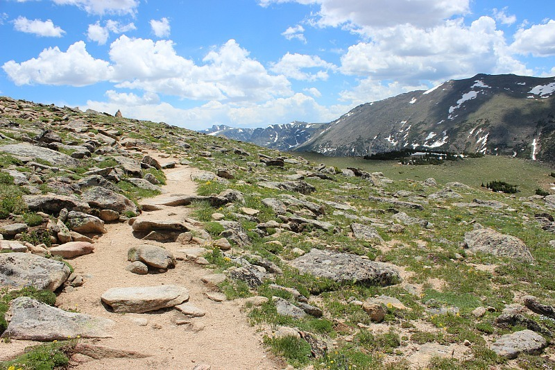 Hiking off Trail Ridge Road in Rocky Mountain National Park