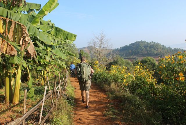 Hiking in Myanmar