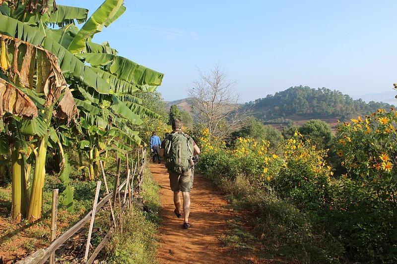 Trekking from Kalaw to Inle Lake in Myanmar
