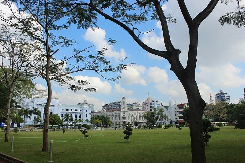 Mahabandoola Gardens in Yangon Myanmar