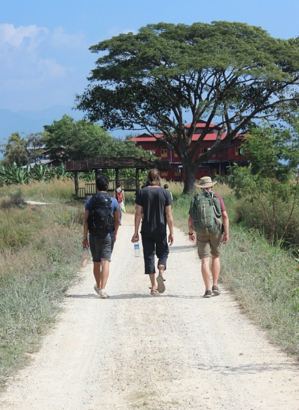 Nearly at Inle Lake on the last day of our Myanmar trekking adventure