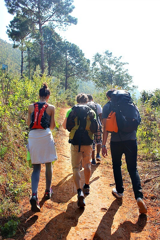 Setting out on the trek to Inle Lake