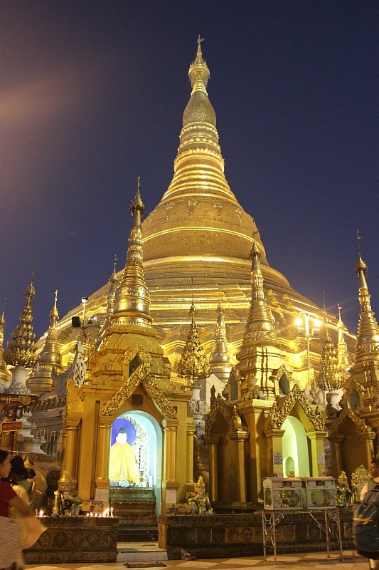 Seeing Shwedagon Pagoda at night was a highlight of my Yangon 2 days Itinerary