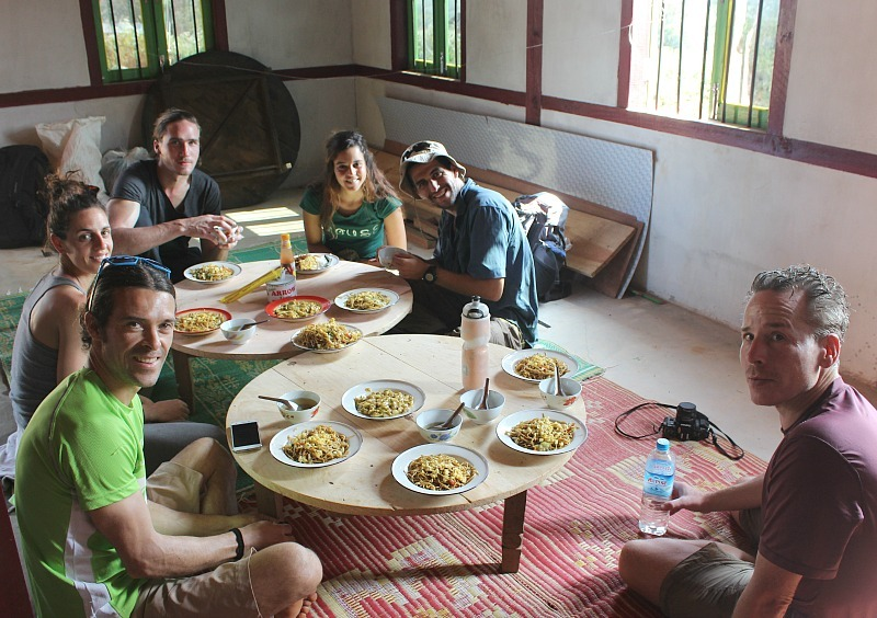Lunch on our Kalaw to Inle Lake trek