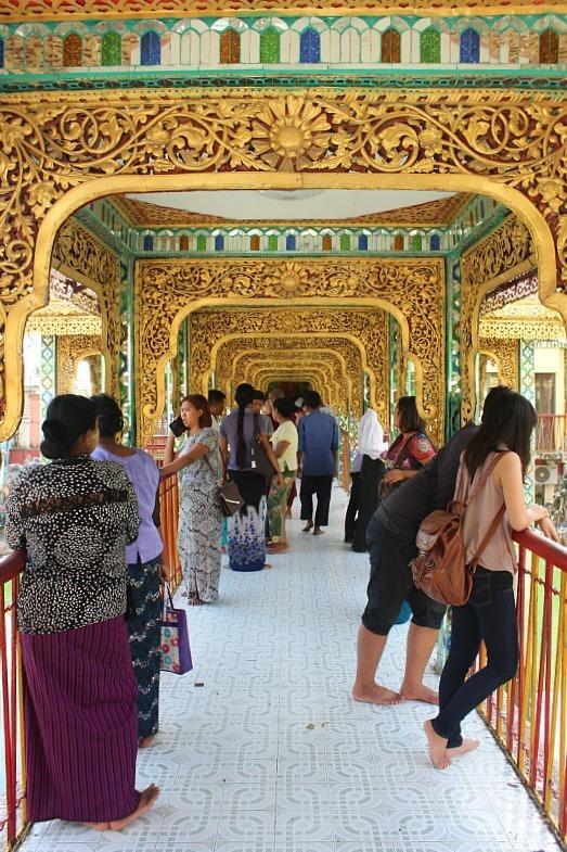 Walkaway in Botataung Paya in Yangon Myanmar