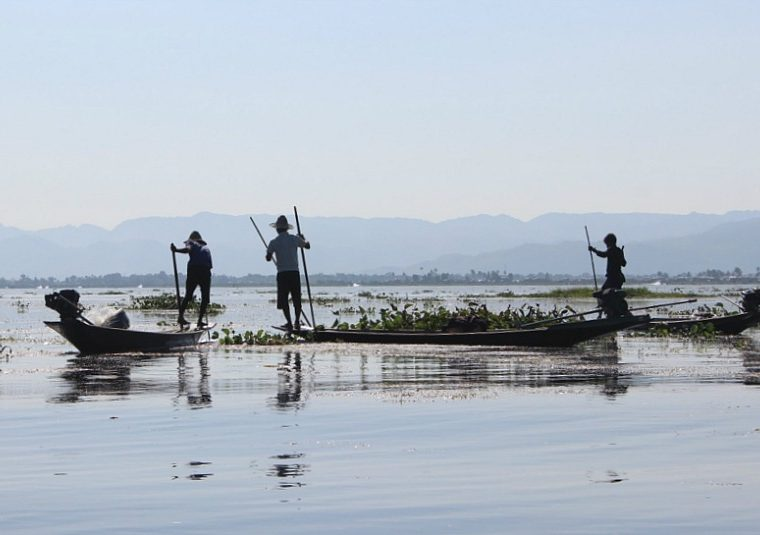 Group of Fishermen on Inle Lake