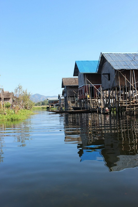 Stilt Village on Inle Lake - part of an Inle Lake boat trip