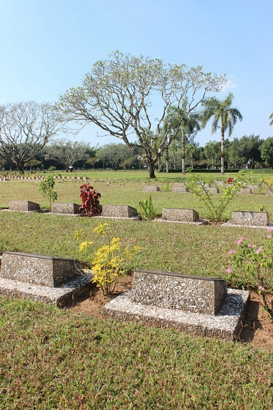 Thanbyuzayat Military Cemetery in Myanmar