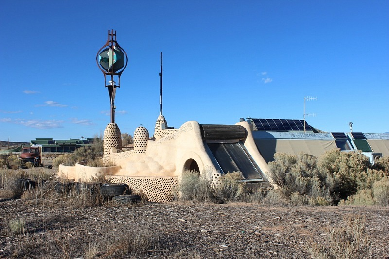 Visiting the earthships near Taos New Mexico during month 17 of digital nomad life