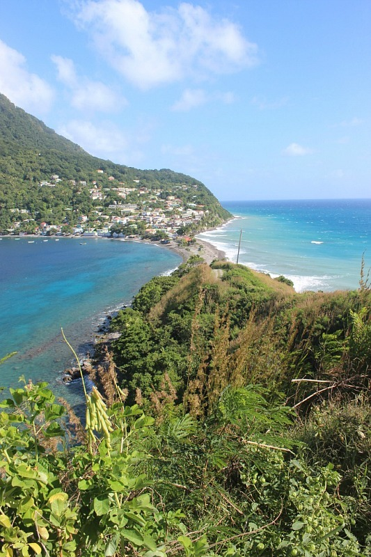 View from Scotts Head in Dominica - visited during month eighteen of Digital Nomad Life