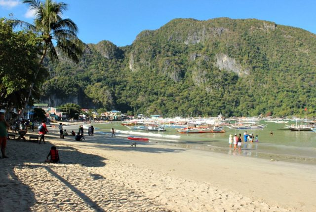 Main beach in El Nido, Palawan