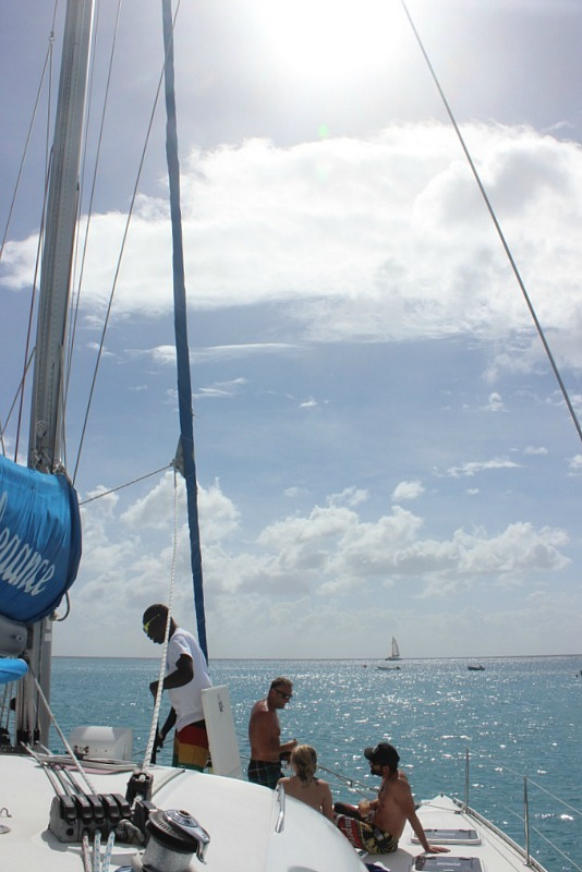 Day out on a boat in Barbados during month eighteen of Digital Nomad life