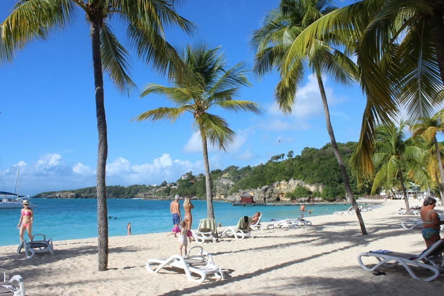 Plage Caravelle on Guadeloupe - visited during month nineteen of digital nomad life