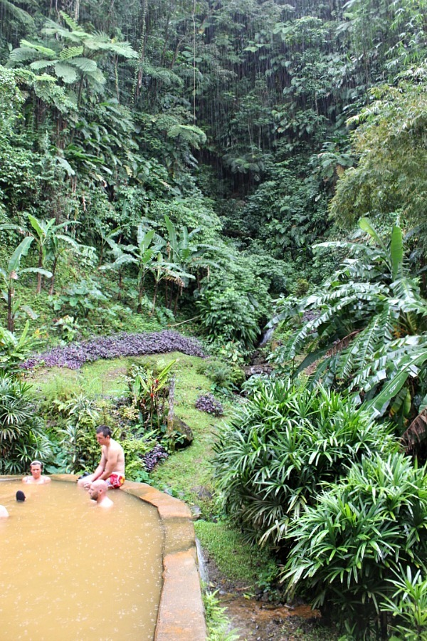 Hot springs in Wotton Waven on Dominica - visited during month nineteen of digital nomad life
