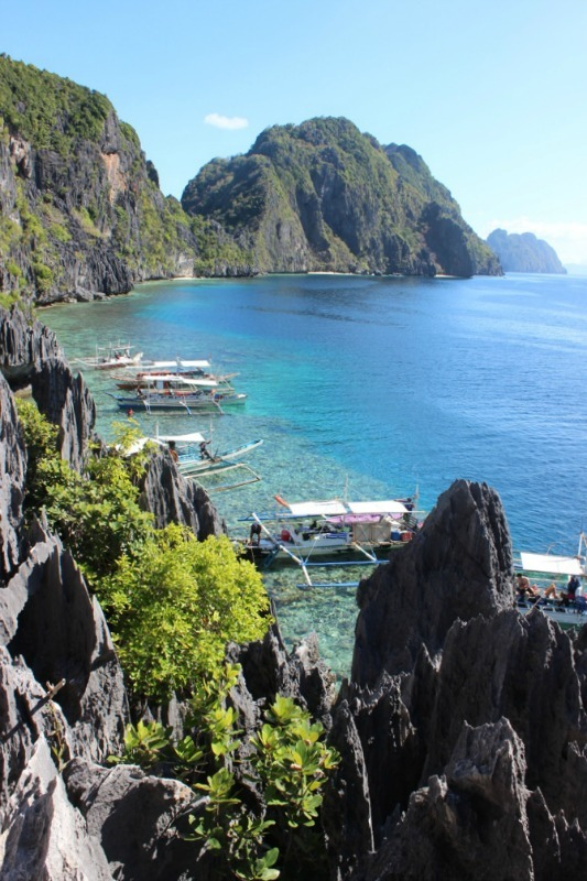 Matinloc Shrine viewpoint on the El Nido island hopping tour