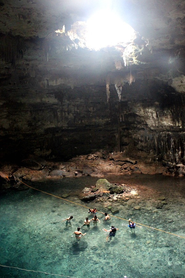 Cenote near Valladolid in Mexico - visited during month twenty of digital nomad life