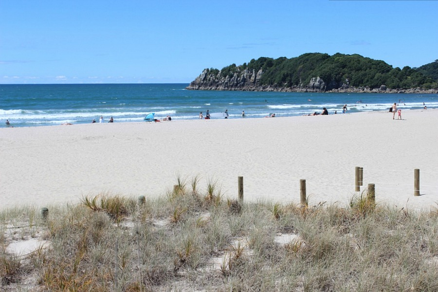 Mount Maunganui beach New Zealand - visited during month twenty one of digital nomad life