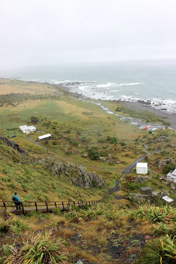 Cape Palliser Lighthouse - visited during month twenty one of digital nomad life