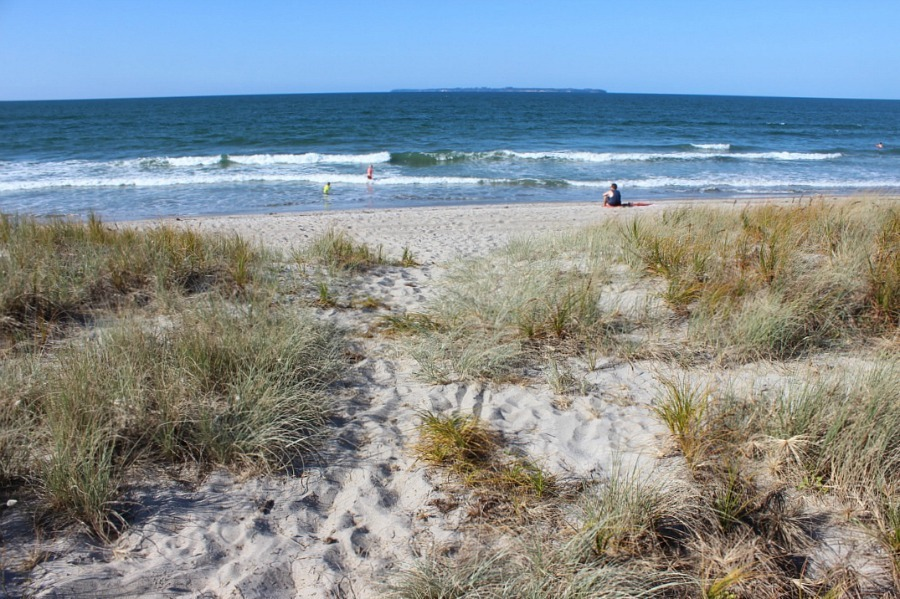 Mount Maunganui beach in New Zealand - visited during month twenty two of digital nomad life