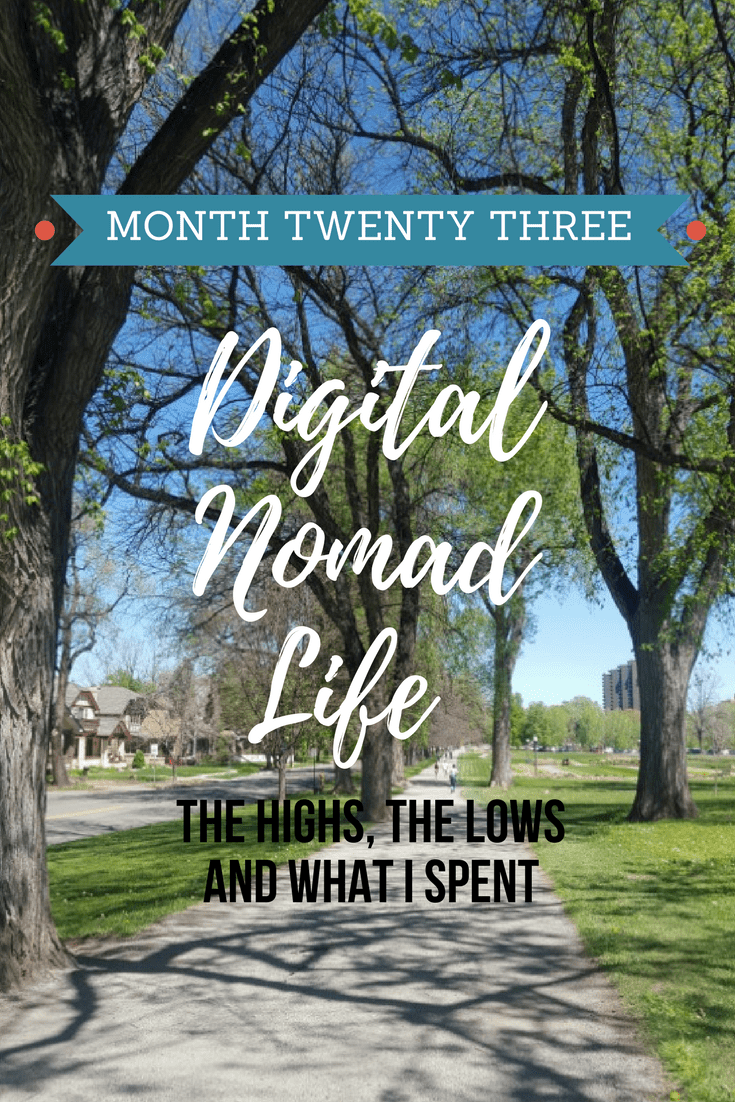 Month Twenty three of digital nomad life