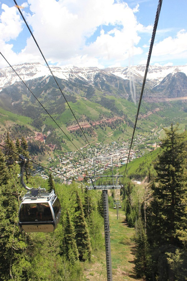 Taking the free gondola is one of the best things to do during Telluride summer