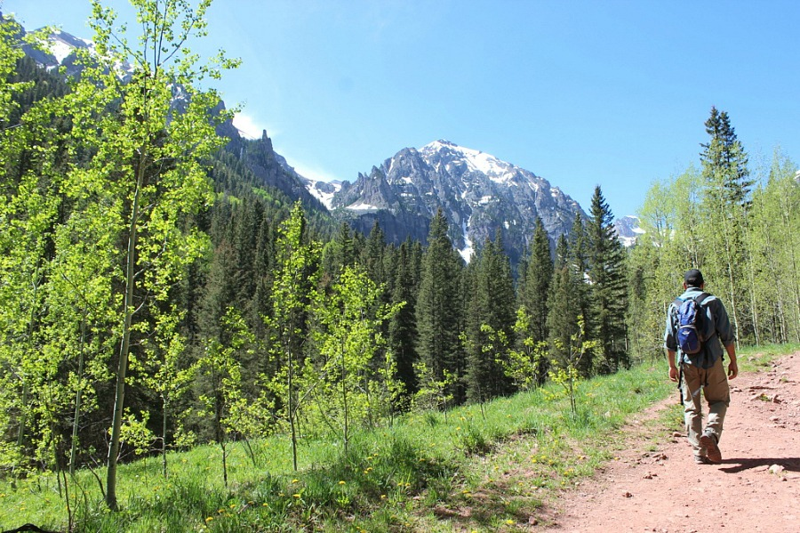 Hiking Bear Creek trail in Telluride - one of the best Telluride hikes near town