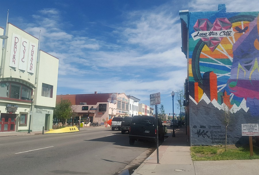 Santa Fe Arts District in Denver - visited during month twenty three of digital nomad life