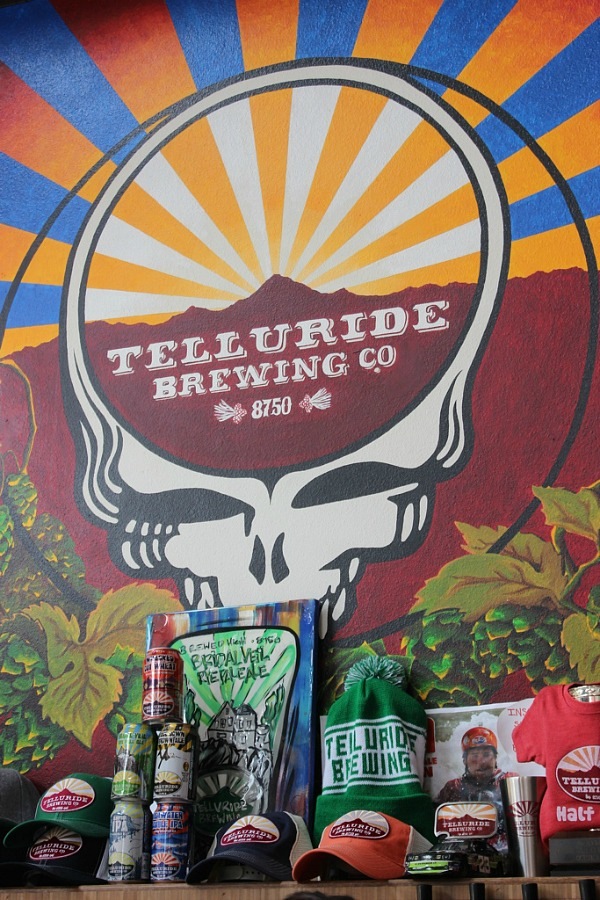 Sampling brews at Telluride Brewing Co in Telluride - the best of Colorado Mountain living