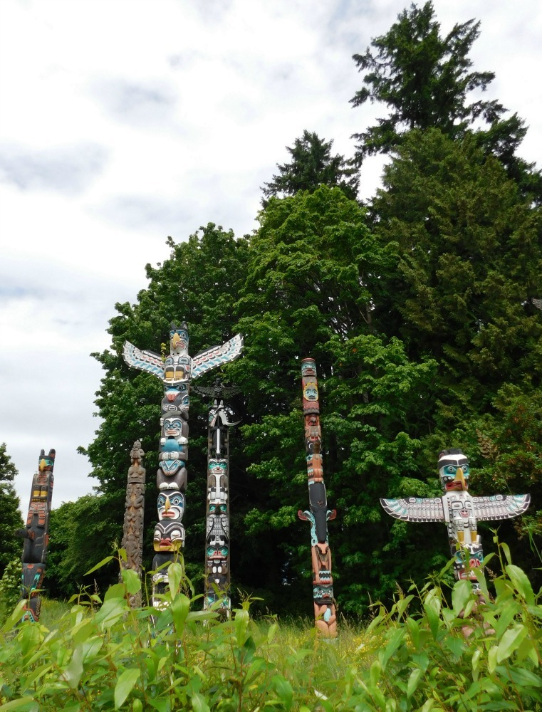 Totem poles in Stanley Park in Vancouver, Canada - visited during month twenty four of digital nomad life